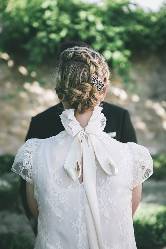 Braided Bridal Updo Provence Wedding by Life Stories