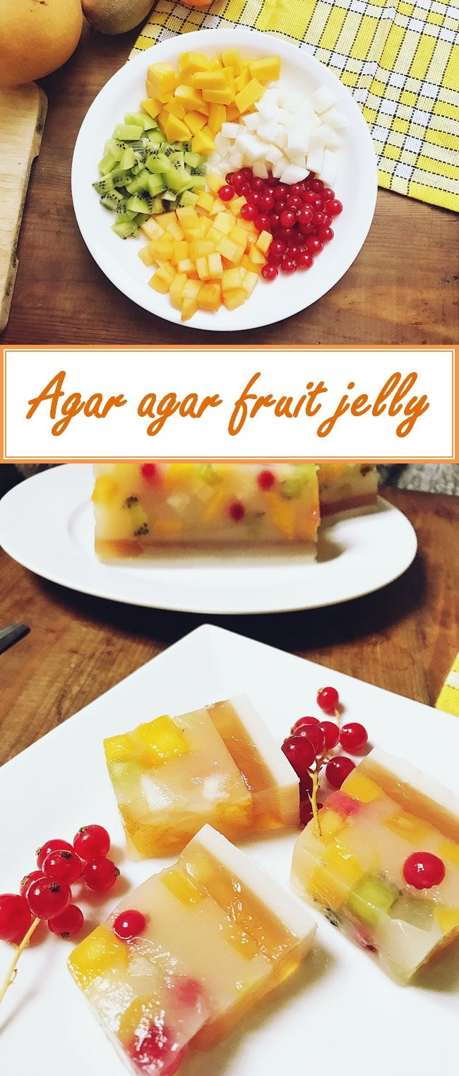 Sweet and sour fruit jelly with a twist from red tea and coconut milk will end any of your party on a high note.