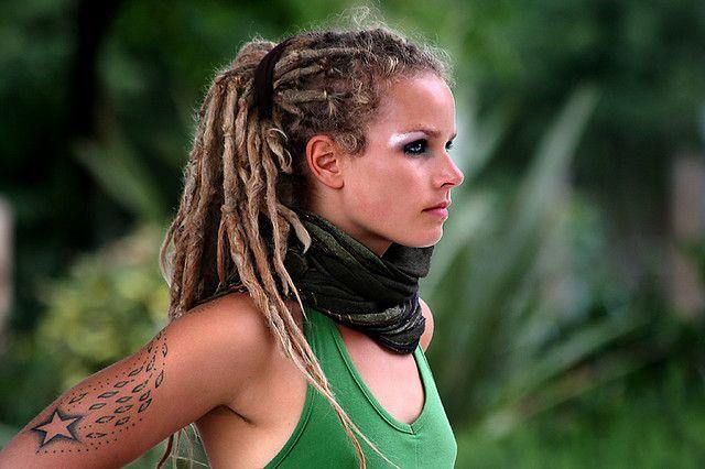 Dreadlocked Hoop GoddessOne Day, Green Dragon, Dreadlocks Hairstyles, Goddesses, Dragons, Dreads Head, Beautiful, White, Pop Dreadlocks