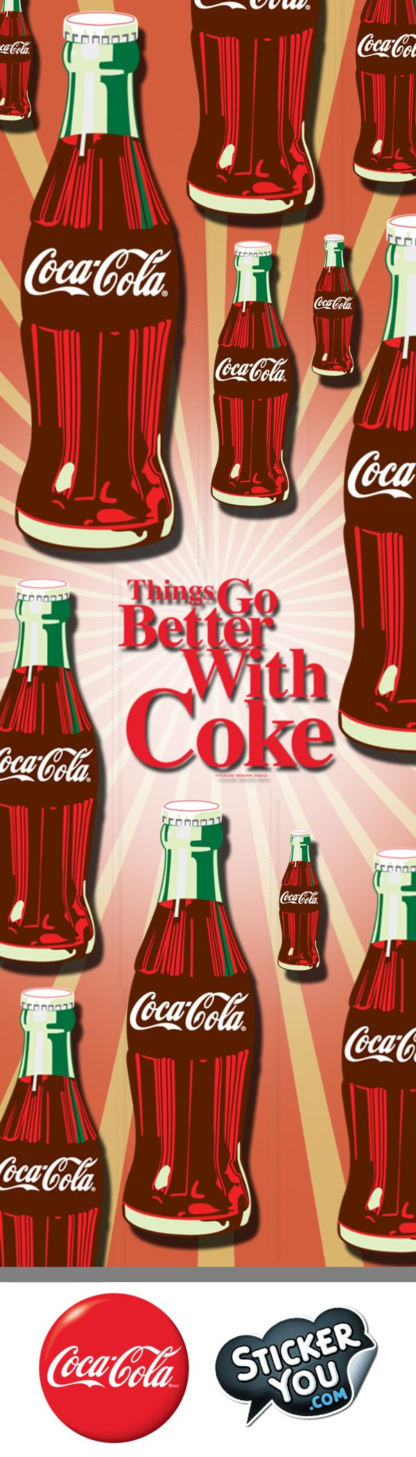 For the first time ever, you can create and customize your very own Coca-Cola stickers. With a rich history of beautiful artwork, you're sure to find exactly what you need for the perfect Coke sticker. Make it Stick with Coca-Cola and StickerYou!