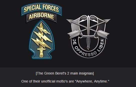 The Green Berets (Officially known The United States Army Special Forces)