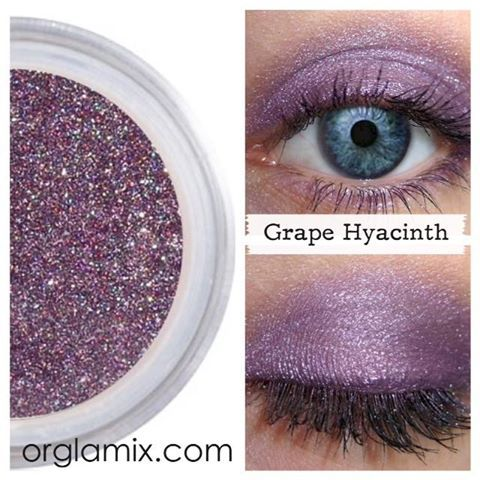 http://www.orglamix.com Like + Comment to Win! A warm, intense shade of purple, Grape Hyacinth speaks to the powerful, sensual woman who embodies the flowers rich legacy. #purple #pigment #mua #eyeshadow #shimmer #orglamix