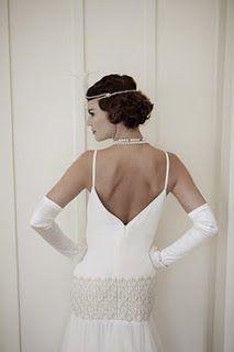 Mariages Rétro: Robes de mariées style années 20/30