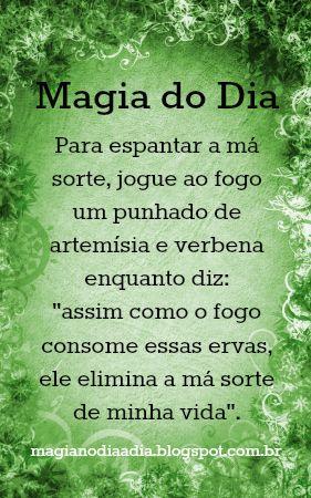 Magia no Dia a Dia: Magia do Dia: xô uruca! http://magianodiaadia.blogspot.com.br/2016/12/magia-do-dia-xo-uruca.html