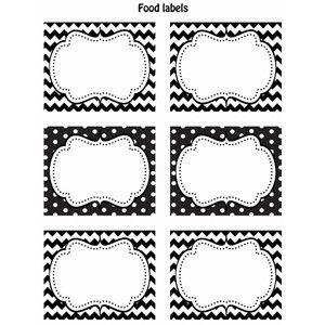 FREE Black White Printable Labels
