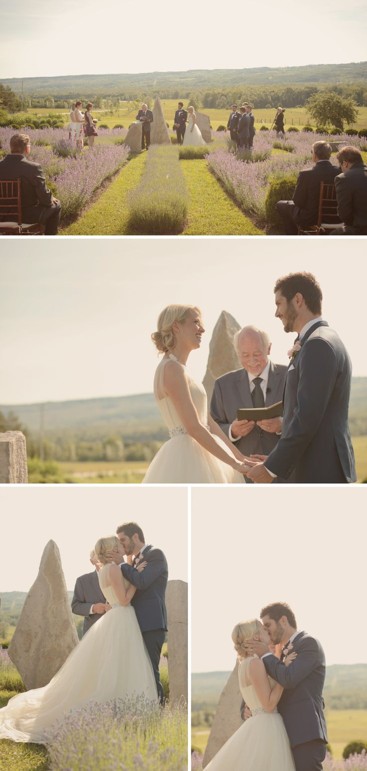 ceremony in lavender field  http://www.tiedphotography.com
