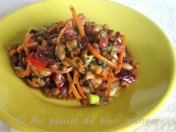 AU PLAISIR DE BIEN MANGER: Salade de légumineuses
