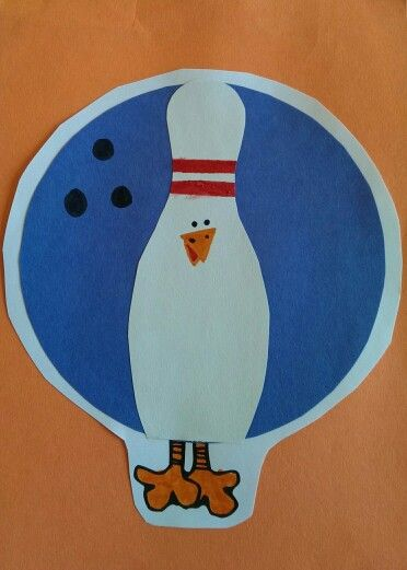Tom the Turkey disguised as a bowling ball and pin #tomtheturkey #bowlingball #bowlingpin