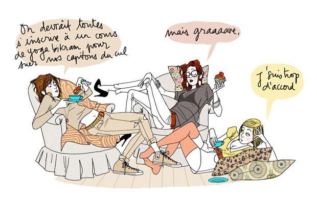 Illustration Converse décalée de Margaux Motin