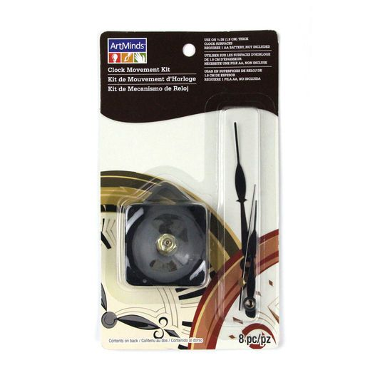 """3/4"""" Clock Movement Kit with Black Hands by ArtMinds™"""