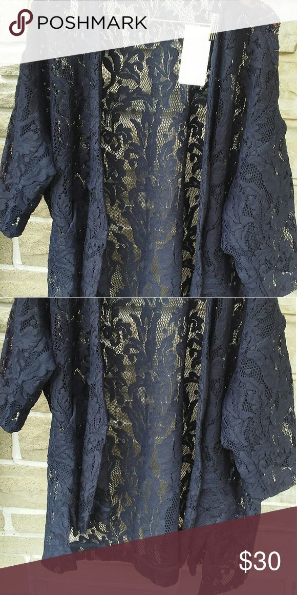 Zara Cardigan Zara beautiful lace open cardigan with drop shoulder sleeves, a  great anytime piece to throw on, or would be a nice cover up, with your bathing suit also has side pockets. Zara  Sweaters Shrugs & Ponchos