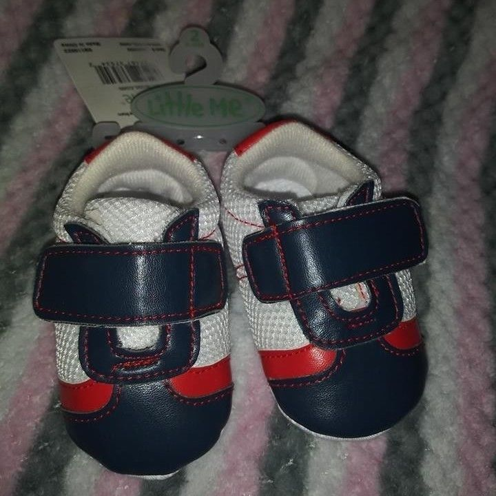 Little Me Baby Boy Shoes Size 2 (6-9
