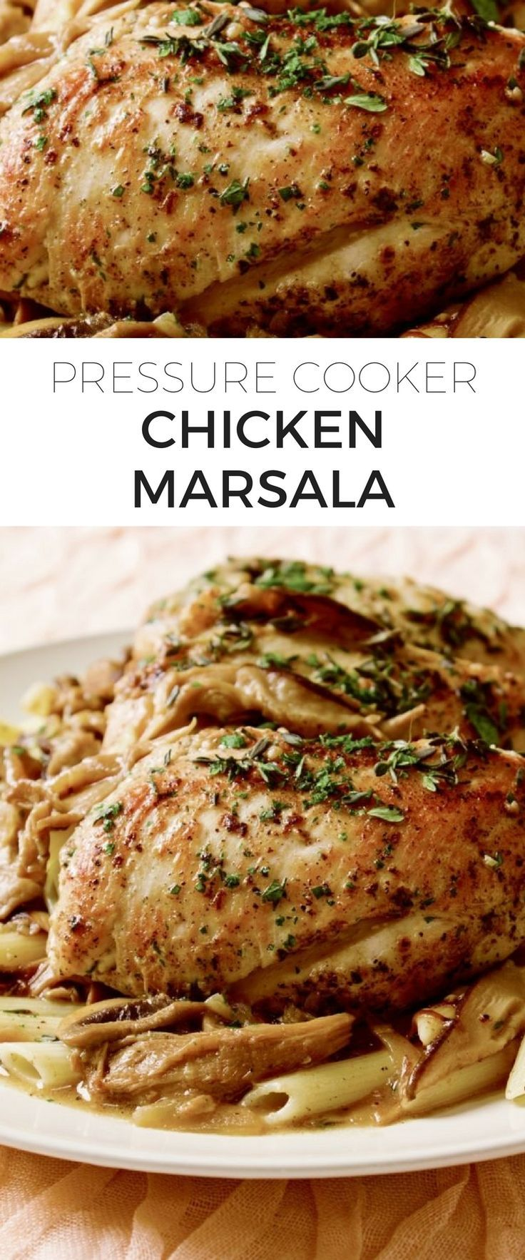 Save yourself some time by making chicken marsala in the pressure cooker! This classic and flavorful Italian dish now takes even less time to make!