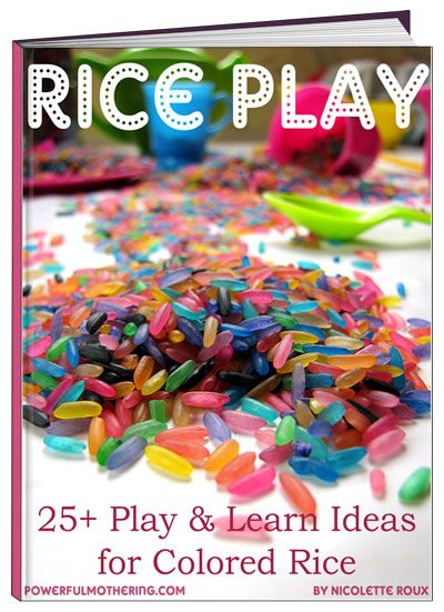 This color rice ebook is an amazing resource with over 25 activity and craft ideas for toddlers featuring great photos, easy to follow instructions, a NO-FAIL color rice recipe PLUS each idea can easily be done at home!