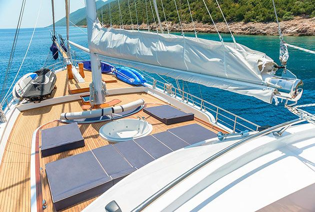 The yacht Bella Mare, a 38 meter long ultra luxury gulet with 6 cabins and a crew of 7, will be proud to welcome you on board this summer.