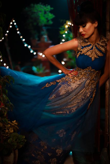pehchaanfashion:  Tulle and lace peacock gown for the alternate bride Shantanu and Nikhil