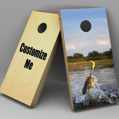 Custom Cornhole board Decals - Upload your own or choose from our library