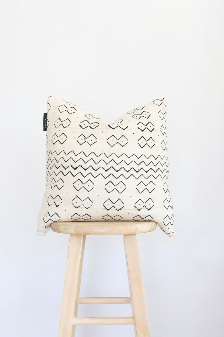 White African Mudcloth Pillow African mud cloth, Pillows