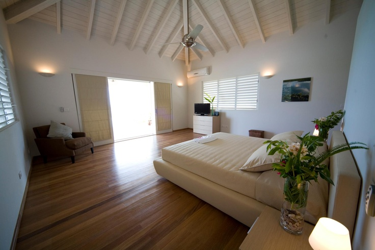 Bedroom in Capri luxury villa in Antigua, Caribbean