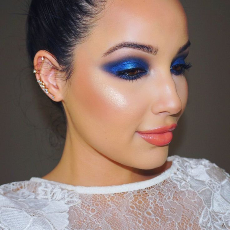 I love this look from @Sephora's #TheBeautyBoard http://gallery.sephora.com/photo/blue-editorial-makeup-66088