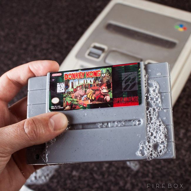 SNES cartridge soap