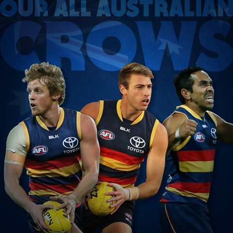 Three Crows made tha All Australian Team 2016..Rory Sloan, Vice-captain, Daniel Talia, and Eddie Betts