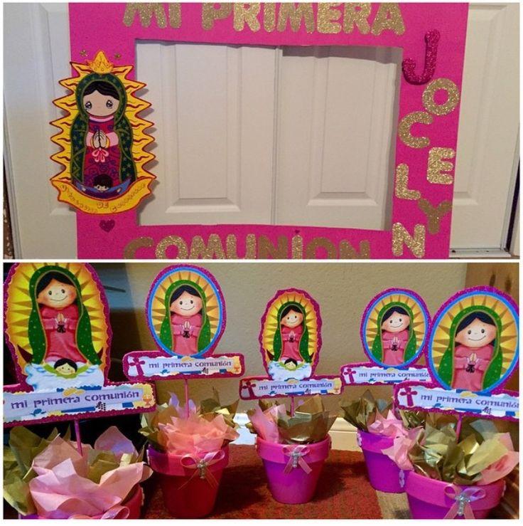 Primera Comunion/First Communion Virgencita #centerpieces#picframe
