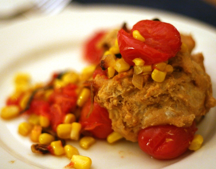 Healthy) Tomato and Corn Cobbler | healthy dinner ideas | Pinterest