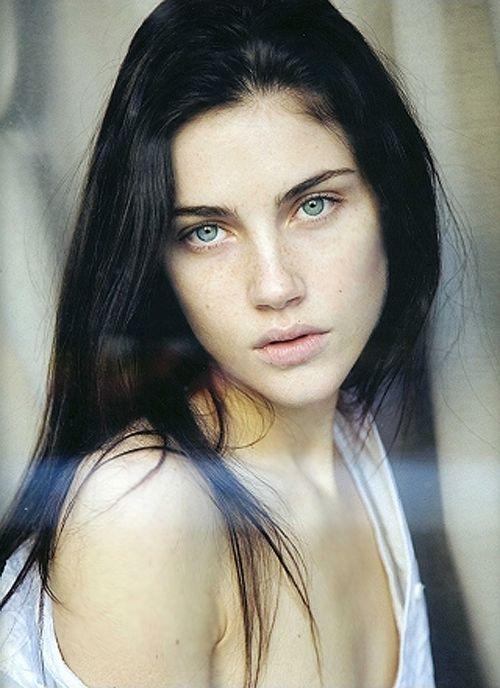 black hair green eyes - google