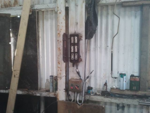 More old fuse boxes containing asbestos flash gaurds. Discovered during demolition asbestos survey Edinburgh