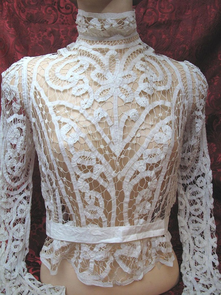 Victorian Battenberg Tape Lace Blouse. Except I have to find something to wear Under it.