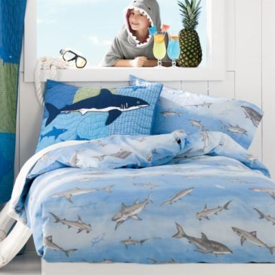 shark bedroom decor sharks percale bedding comforter cover decorating 13143