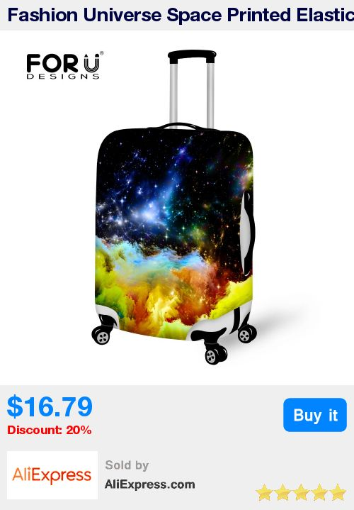 Fashion Universe Space Printed Elastic Luggage Cover Suitcase Protective Cover for 18-30 Inch Cases Stretchable Luggage Cover * Pub Date: 22:02 Apr 13 2017
