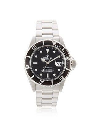 Rolex Men's Submariner Black Stainless Steel Date Watch