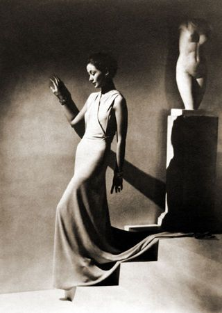 Evening Wear By Augustabernhard, Paris, (Toto Koopman). Photograph taken by George Hoyningen-Huene supervised and print by Horst P. Horst 1935
