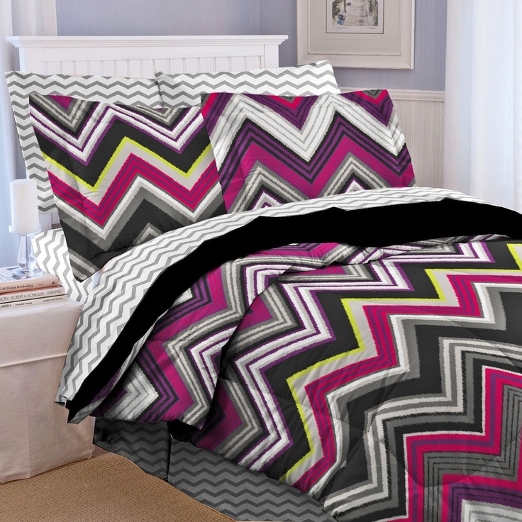 Soft & Lofty Multi Zig Zag Comforter Set- also available in twin extra long #shopko