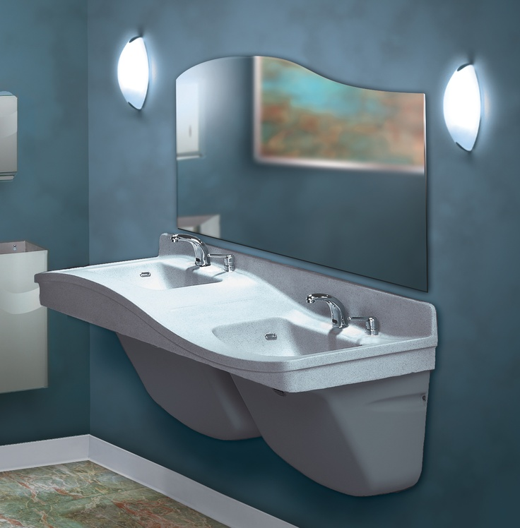 the frequency lavatory systems accomdates 1 2 users at a time the fl - Bradley Bathroom Accessories