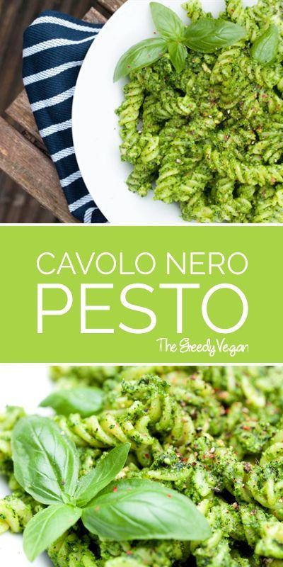 Cavolo Nero Pesto. Tuscan Kale Pesto. #glutenfree #gf #vegan