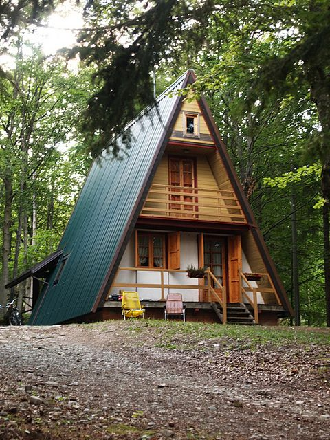 7 best a frame additions images on pinterest tiny houses for Small cabin additions