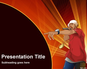Rapper PowerPoint Template is a free high quality rap PowerPoint template that you can download for presentations on music and rap