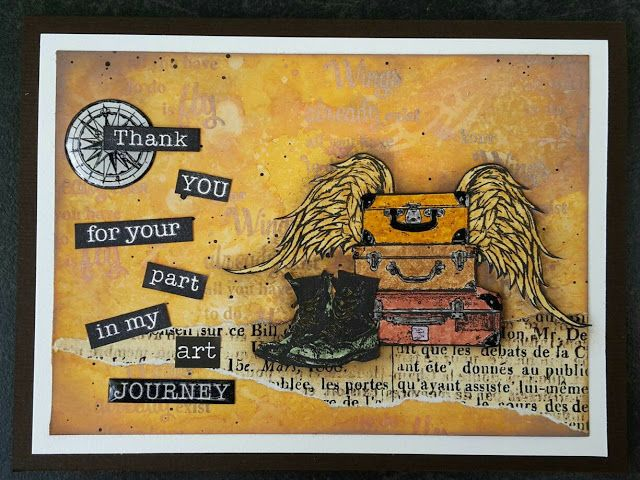 Art Journey Design-team: New Art Journey Stamps: Your Wings, ode aan Jeanette