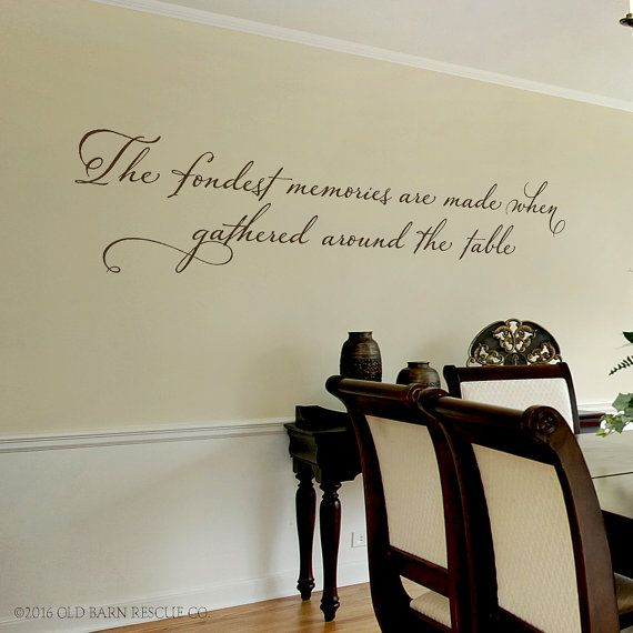 Dining Room Wall Decal