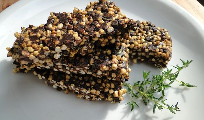 Barres de chocolat à la quinoa soufflée et aux protéines de chanvre | Fitnessfriandises.fr