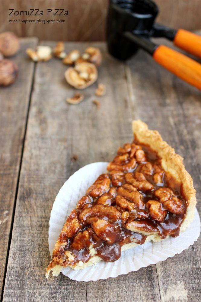 Карамелен тарт с орехи