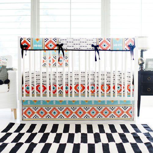 Crib Rail Cover | Tribal Four Corners Crib Baby Bedding Set