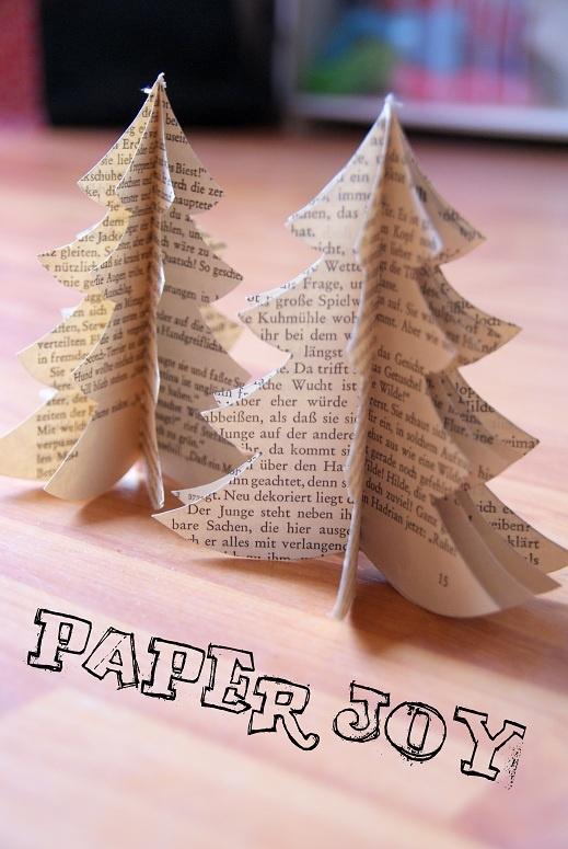 3 dimensionale weihnachtsb ume aus papier mit anleitung weihnachten und winter basteleien. Black Bedroom Furniture Sets. Home Design Ideas
