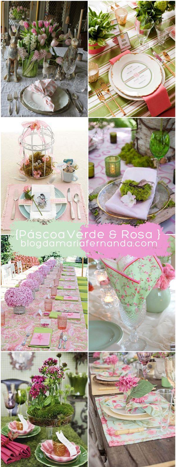 Paleta de Cores : Páscoa Verde e Rosa | http://blogdamariafernanda.com/paleta-de-cores-39-pascoa-verde-rosa