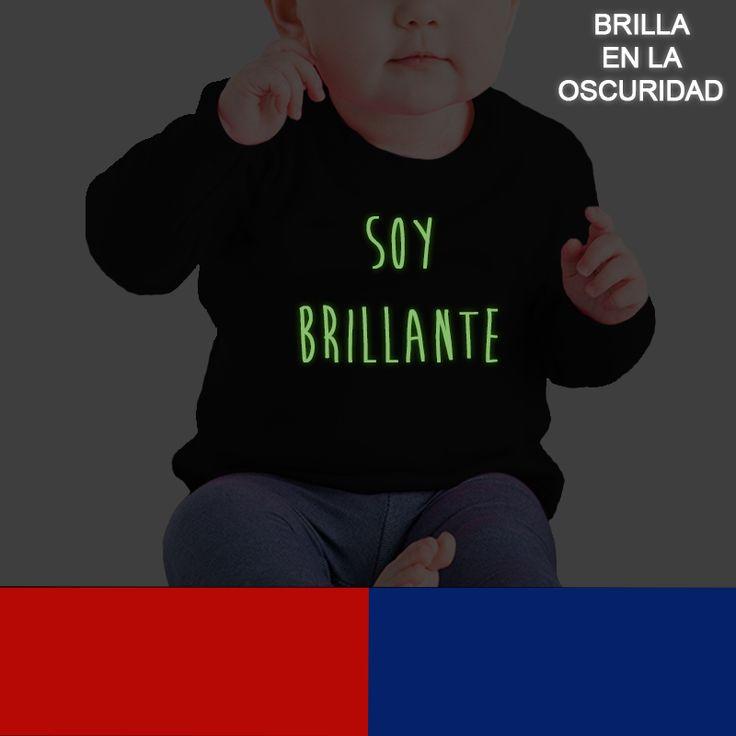 Camiseta Soy brillante - vinilo fotoluminiscente, brilla en la oscuridad.