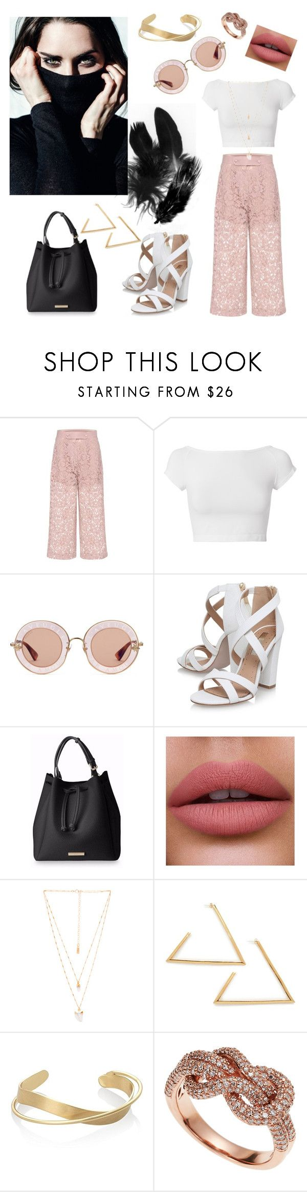 """""""Contrast"""" by katrinanilles ❤ liked on Polyvore featuring Valentino, Helmut Lang, Gucci, Miss KG, Natalie B and Effy Jewelry"""
