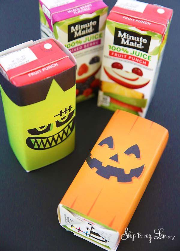 printable Halloween juice box wraps
